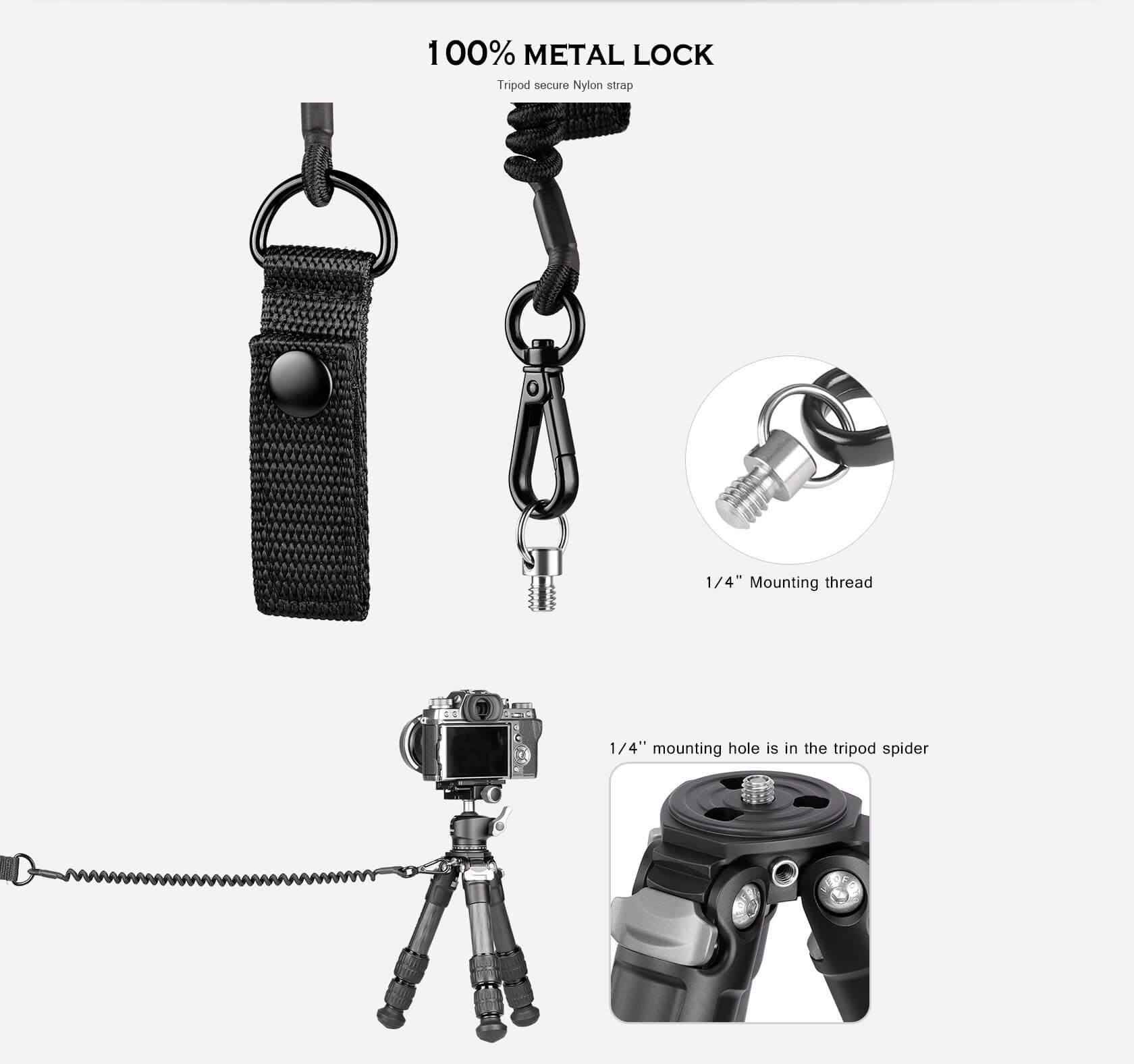 LT-S1,全金屬扣具,三腳架安全繩