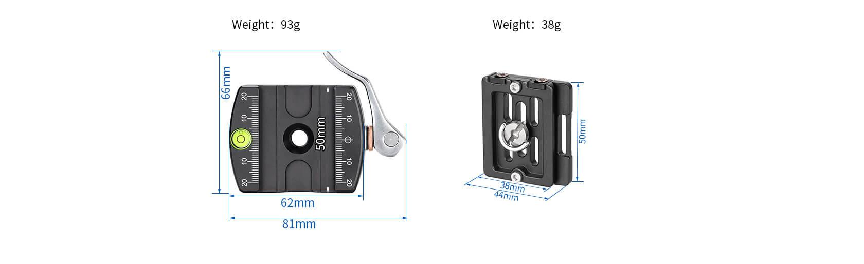 PCL-60+NP-60, 扳扣型,全景快拆夾座