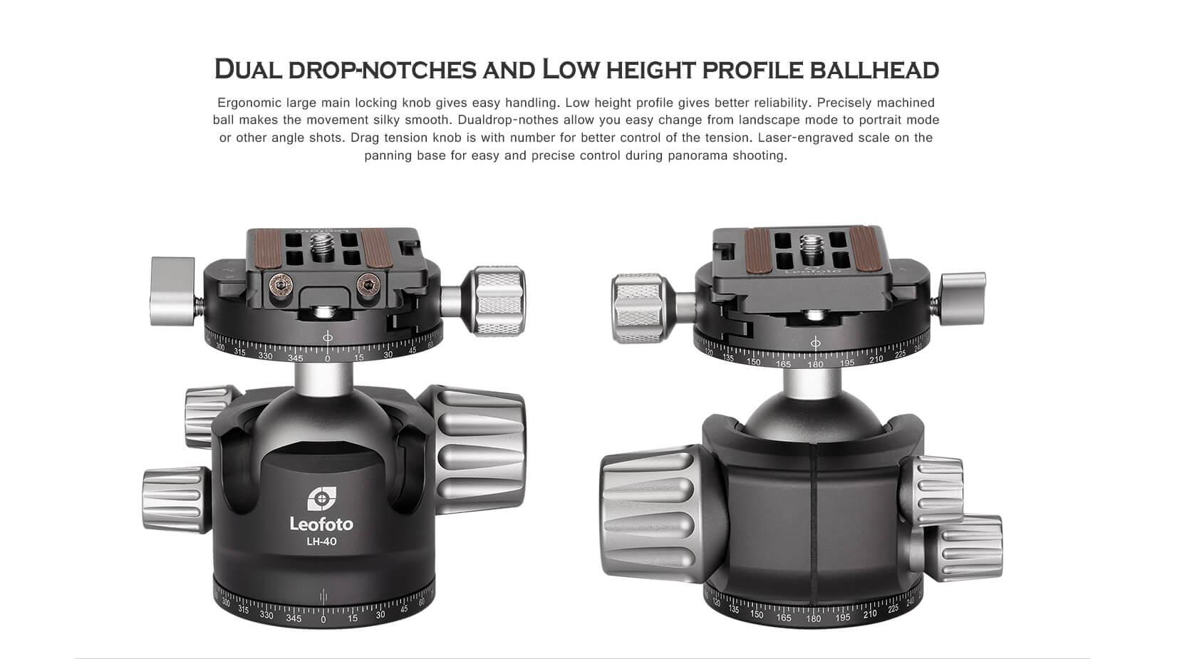 LH-40R+NP60,球形雲台,低重心雙開口,RH-2L,雙全景夾座