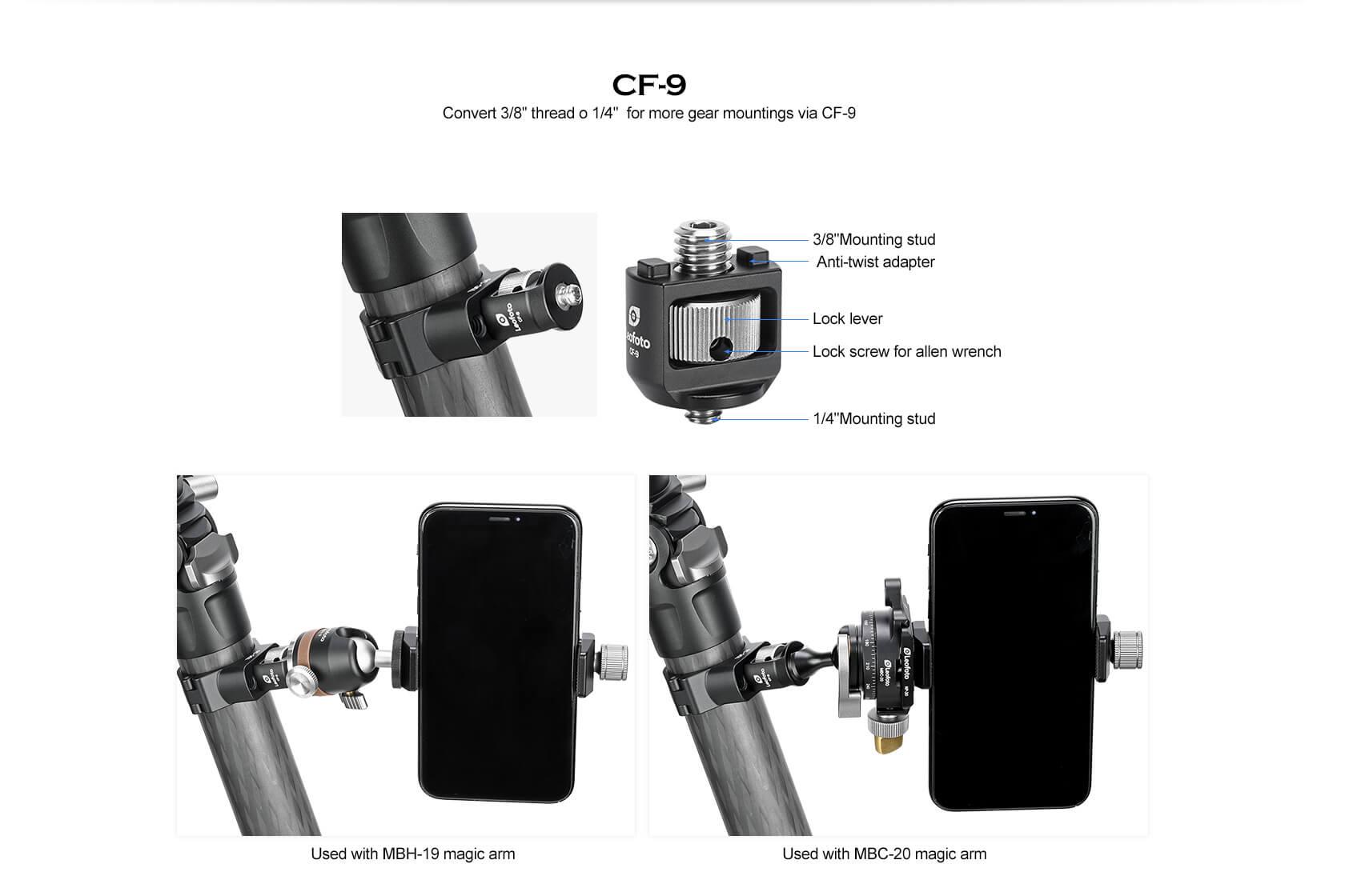 TDC-28 ,TDC-32 ,TDC-36 ,TDC-40+CF-9,腳架多功能轉接環卡扣