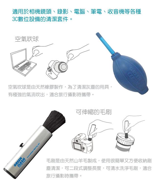 T-1060 空氣吹球 GREEN CLEAN 緣色清潔 專業清潔相機用品